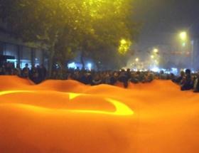 Edirnede görkemli Cumhuriyet yürüyüşü