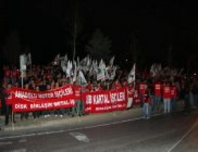 DİSKten kıdem tazminatı protestosu