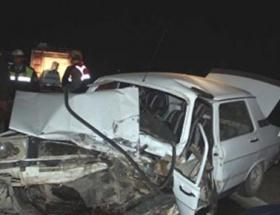 Taşköprüde trafik kazası: 1 ölü, 4 yaralı