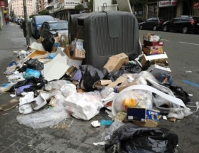 Madrid çöplüğe döndü