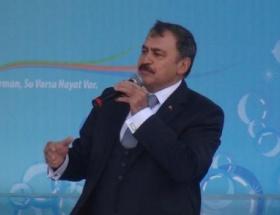 Bakan Eroğlu temel atma törenine katıldı