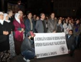 Galatasaray Meydanında Rojava eylemi
