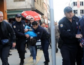 Öğrencilere polis müdahalesi