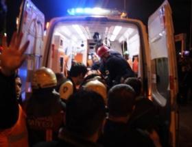 Yaralanan işçi, Ankaraya sevk edildi