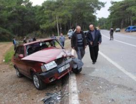 Sidede trafik kazası: 5 yaralı