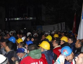 Enerji ve maden işçilerine polis müdahalesi