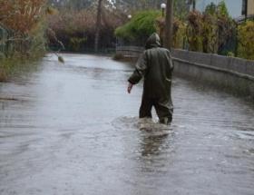 Fethiyede sağanak yağış