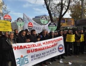 Bakan Eroğluna tazminat protestosu