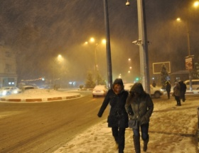 Afyonkarahisara mevsimin ilk karı yağdı