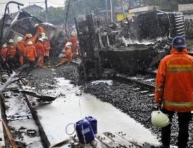 Tren LPG tankerine çarptı!