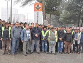 Uşakta taşeron Karayolları işçileri eylemde