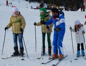 Arap turistlerin kayak keyfi