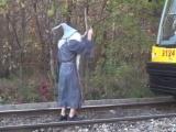 Gandalf Kostümüyle Tren Durdurmak