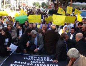 Öldürülen üç PKKlı kadın için yürüyüş