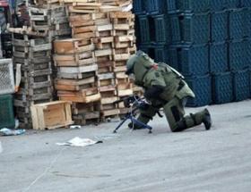 Bomba süsü verilen paket imha edildi