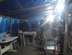 Çadırdaki kumara jandarma baskını