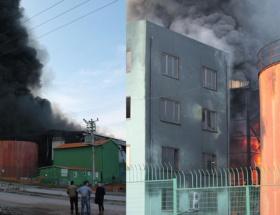 Atık dönüşüm fabrikasında yangın!