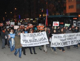 İzmirde yolsuzluk protestosu