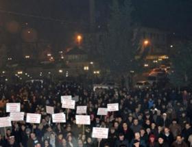 Düzcede mahalle protestosu