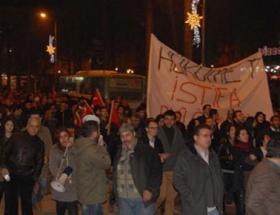 Zonguldakta ses kaydı protestosu