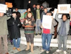 Bodrumda yolsuzluk protestosu