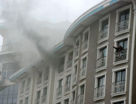 Termal otelde yangın paniği