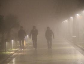Aksaray yoğun sis