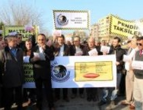 Taksicilerden VIP protestosu