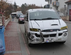 Eskişehirde trafik kazası: 2 yaralı