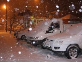 Karsa yılın ikinci karı yağdı