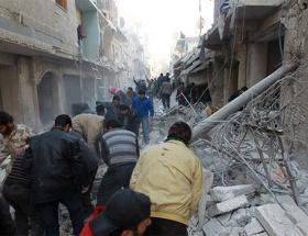 Esadin uçakları Halepi bombaladı