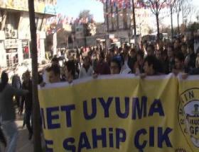 Üsküdarda bonzai protestosu