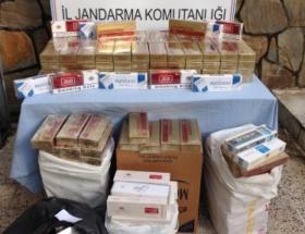 Nevşehirde 424 bin kaçak sigara imha edildi