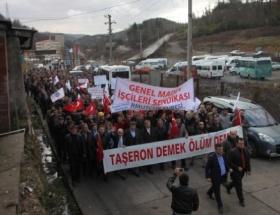 600 TTK işçisinden taşerona hayır eylemi