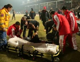 Galatasaraylı oyuncu Aydının ayağını kırdı!