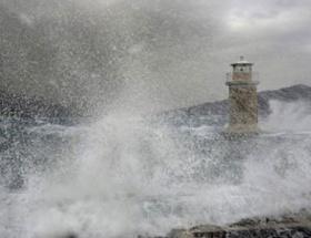 İzmirde fırtına uyarısı