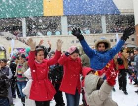 Mersinde 2. Kar Festivali başladı
