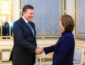 Yanukoviç ile Ashton, Kievde görüştü