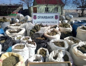Diyarbakırda patlayıcı ve esrar operasyonu
