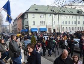 Bosna-Hersekte hükümet karşıtı protesto