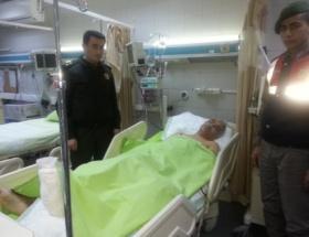 Jandarmadan yaralı polise geçmiş olsun ziyareti