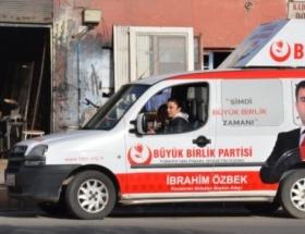 BBPli başkan adayı Özbeke eşinden destek