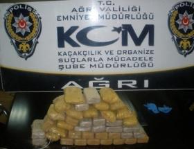 Ağrıda yaklaşık 21 kg. eroin ele geçirildi