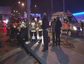 Ankarada kaza: 1 ölü, 2 yaralı