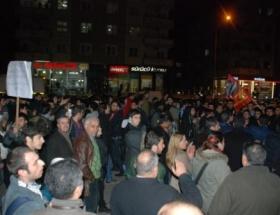 Gaziantepte ses kaydı protestosu