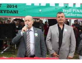 Pınarbaşında taş ocağı eylemi