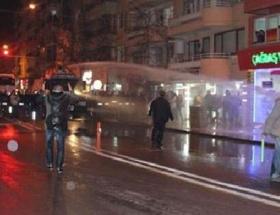 Yolsuzluk protestosuna TOMA ve biber gazı