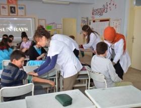 Öğrencilerden sağlık taraması