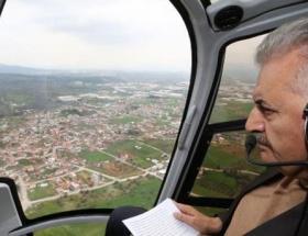 İzmiri havadan inceledi
