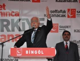 Kamalak, Bingölde vatandaşlara hitap etti